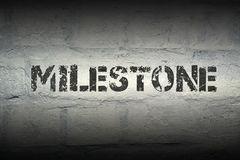 Milestone WORD GR royalty free stock photography