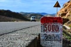 Milestones at Tibet Royalty Free Stock Photography