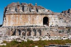 Milet, theater van Miletus Stock Foto's