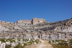 Miletus amphitheater 1. Greek amphitheater in Miletus city, Turkey Stock Image