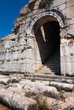 Miletus, oude theateringang Royalty-vrije Stock Afbeeldingen