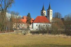 Milevsko-Kloster Stockbild