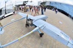 MILEX międzynarodowa wystawa ręki i militarny wyposażenie: UAV Porcelanowy Kosmiczny marzec obrazy stock