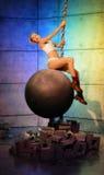 Miley Cyrus που καταστρέφει τη σφαίρα Στοκ Εικόνες