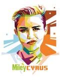 Miley Cyrus ilustración del vector