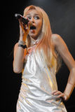 Miley Cyrus Ausführung Phasen Stockbild