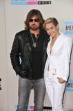Miley Cyrus & Billy Ray Cyrus zdjęcia stock