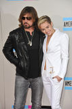 Miley Cyrus & Billy Ray Cyrus obraz stock
