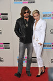 Miley Cyrus & Billy Ray Cyrus zdjęcie royalty free