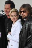 Miley Cyrus & Billy Ray Cyrus & Wayne Newton Royalty Free Stock Image