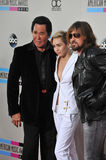 Miley Cyrus & Billy Ray Cyrus & Wayne Newton Stock Photo