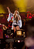 Miley Cyrus Gypsy Heart Show in Brazil Royalty Free Stock Photos