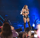 Miley Cyrus Gypsy Heart Show in Brazil Royalty Free Stock Images