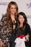 Miley Cyrus,Noah Cyrus Stock Images
