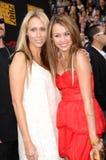 Miley Cyrus,Leticia Cyrus Stock Photos