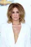 Miley Cyrus llega las concesiones 2012 de la cartelera imagen de archivo libre de regalías