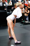 Miley Cyrus. NEW YORK-OCT 7: Recording artist Miley Cyrus performs on NBC's 'Today Show' at Rockefeller Plaza on October 7, 2013 in New York City Stock Photos
