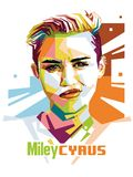 Miley Cyrus vector illustration