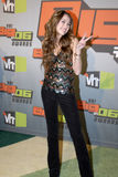 Miley Cyrus on the red carpet. Miley Cyrus appearing at the VH1 Big in 06 Awards Royalty Free Stock Photography