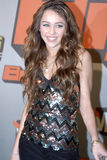 Miley Cyrus on the red carpet Royalty Free Stock Image