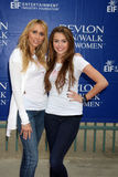 Miley Cyrus,Tish Cyrus Royalty Free Stock Photo