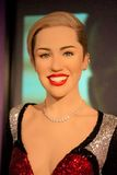 Miley Cyrus Wax Figure stockfotos