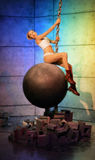 Miley Cyrus Wrecking Ball Stockbilder