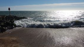 Milford auf Meer Wellen Lizenzfreies Stockbild