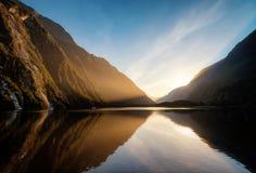 Milford Correct Nieuw Zeeland stock afbeelding