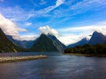 Milford dźwięk, Południowa wyspa, Nowa Zelandia Obraz Royalty Free