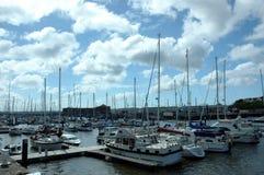 Milford Jachthafen Stockbild