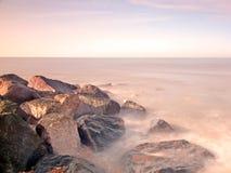 Milford Rocks 2. Rocks at Milford on Sea, near Lymington, New Forest National Park Stock Photos