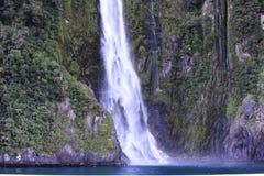 Milford Sound瀑布 免版税库存照片
