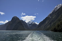 Milford sound. Fiord land National Park, New Zealand stock image