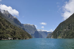 Milford sound. Fiord land National Park, New Zealand royalty free stock photography
