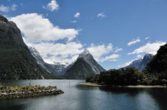 Milford sound. Fiord land National Park, New Zealand royalty free stock images
