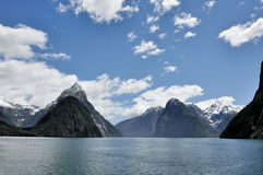 Milford sound. Fiord land National Park, New Zealand royalty free stock photos