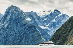 Milford sound. New Zealand fiordland Royalty Free Stock Photo