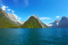 Milford Sound royaltyfri bild