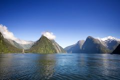 Milford Sound. In New Zealand Royalty Free Stock Photo
