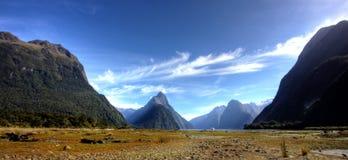 Milford Sound royaltyfri fotografi