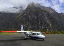 Milford Sound airport Stock Photo