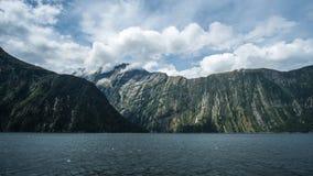 Milford Sound Cliff Wall Fotos de Stock