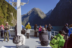 Milford Sound cruise Stock Photo