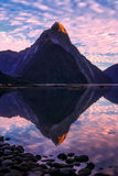 Milford Sound at dawn Stock Photography