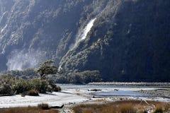 Milford Sound durante la bajamar Fotografía de archivo