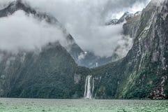 Milford Sound dyster dag Royaltyfria Foton