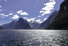 Milford Sound. Fiordland. Beautiful New Zealand. Royalty Free Stock Photo