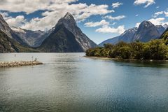 Milford Sound, Fiordland, New Zealand. Stock Images