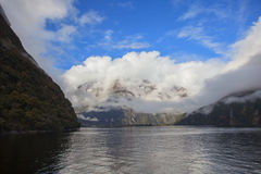 Milford sound fjord land national park south island new zealand Royalty Free Stock Image
